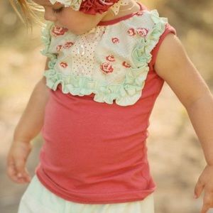 Persnickety | Coral Lou Lou Top | 12 Months